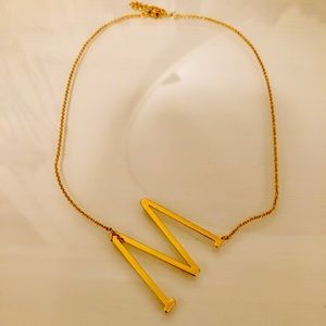 Anthropologie Jewelry - Anthropologie Block Letter Monogram Necklace